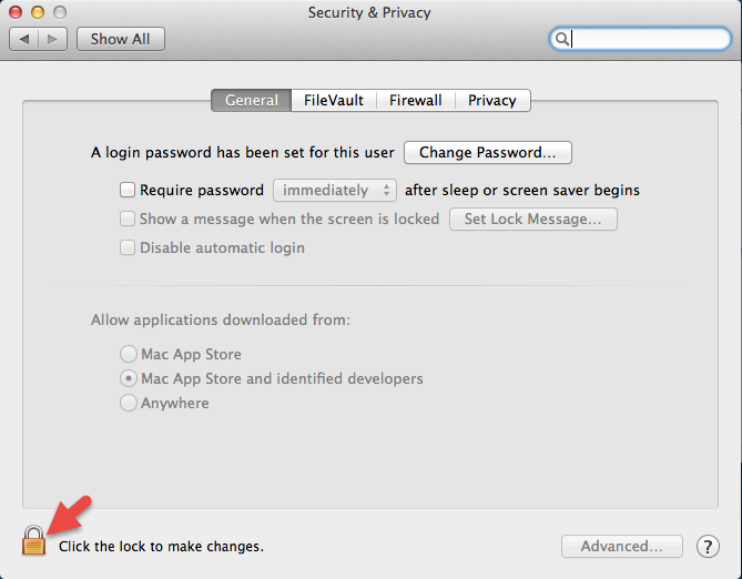 Mac OS Security & Privacy Settings