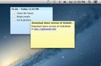 GloboNote in Mac OS